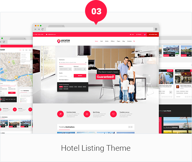 Locator PSD Template Design By Webstrot